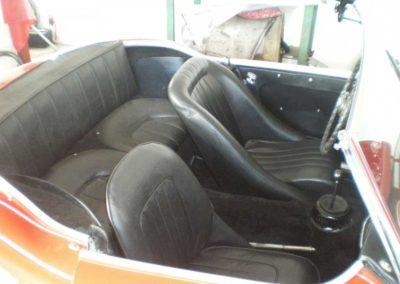 Austin Healey 3000 Mk II sæder sort læder