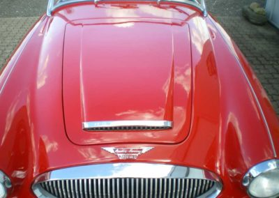Austin Healey 3000 Mk II, front rød